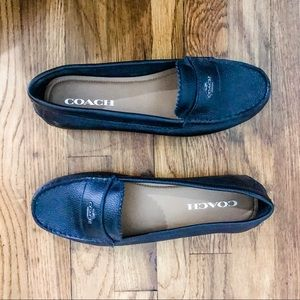 COACH | Black Leather Loafers